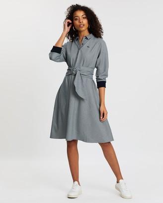 Lacoste Tattersalls Fitted Waist Dress