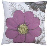 "Thomas Paul Seedling By Botanical Floral Toss Pillow 18""X18"" - White&Purple"