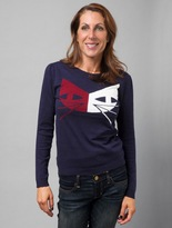 Dear Creatures TWO-TONED CAT SWEATER