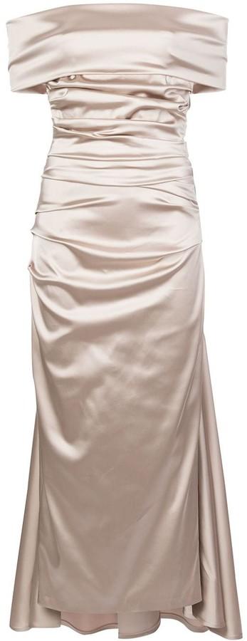 Talbot Runhof Bozica1 draped dress