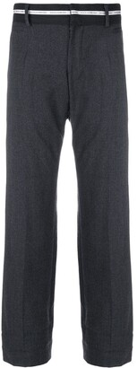 Dolce & Gabbana Pre Owned banner ribbon waistband trousers