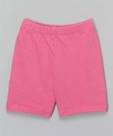 Flap Happy Azalea Pink Solid Hopscotch Shorts - Infant Toddler & Girls