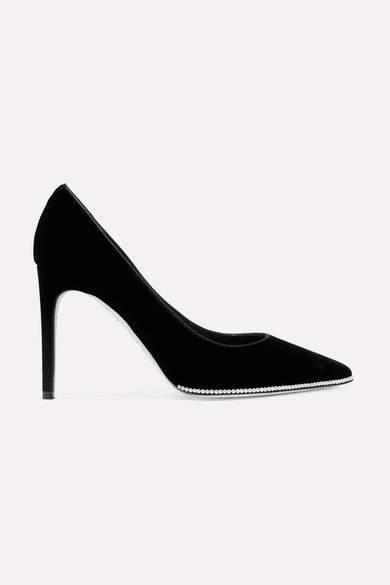 49b9c5057d Black Velvet Pumps - ShopStyle