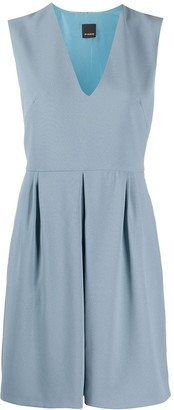 Pinko V-neck flared dress