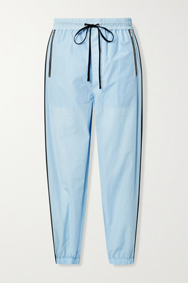 3.1 Phillip Lim Cotton-blend Jersey Track Pants - Sky blue