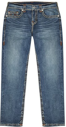 True Religion Geno Super T blue straight-leg jeans