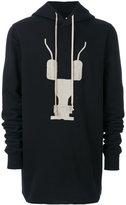Rick Owens oversize print hoodie - men - Cotton/Polyester - S