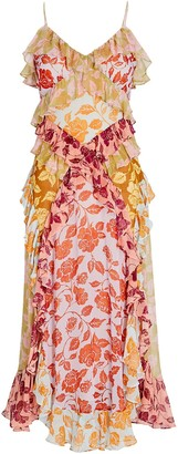 Zimmermann Brighton Ruffled Floral Midi Dress