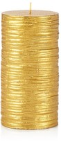 Bloomingdale's Gold Pillar Candle