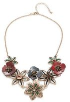Robert Rose Floral Statement Necklace