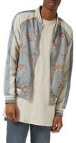 Topman Men's Moth Print Souvenir Bomber Jacket