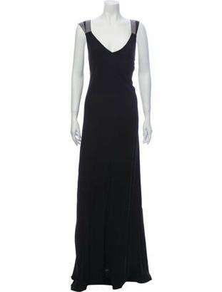 Brunello Cucinelli Silk Long Dress Black