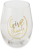 Mud Pie Harvest Give Thanks Stemless Wine Glass