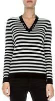 The Kooples Pierced Wool-Blend Striped Sweater
