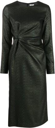 P.A.R.O.S.H. Ruched-Detail Midi Dress