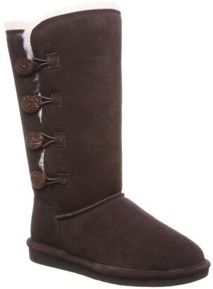 BearPaw Lori Suede Faux Fur Tall Boot