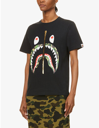 BAPE Camo Shark graphic-print cotton-jersey T-shirt