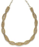 Alfani Necklace, 18-in -Tone Twist Crystal Necklace