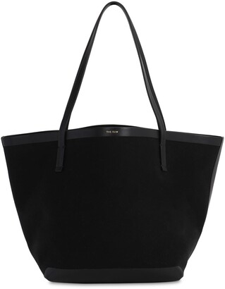 The Row PARK CANVAS & LEATHER TOTE