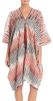 Josie Natori Beachy Cotton & Silk Caftan Coverup