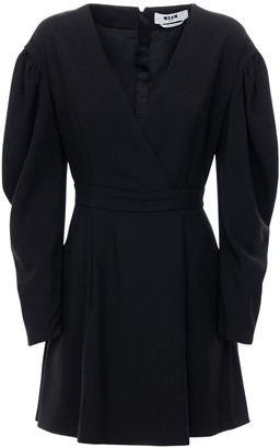 MSGM Crepe Cady Mini Dress