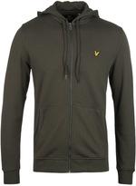 Lyle & Scott Dark Sage Zip Through Hooded Sweatshirt