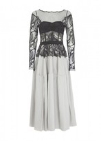 Amanda Wakeley Osaka Mikado Silver & Black Short Dress