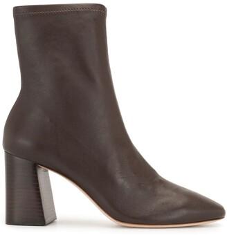Loeffler Randall Elise mid-heel leather boots