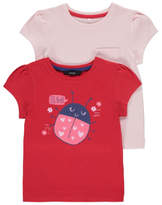 George 2 Pack Assorted Ladybird T-Shirts