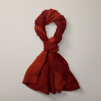 Love & Lore Love And Lore Reversible Pleated Scarf Auburn & Red