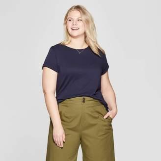 Ava & Viv Women's Plus Size Short Sleeve Crew Neck T-Shirt