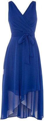 DKNY Occasion Chiffon Wrap Dress