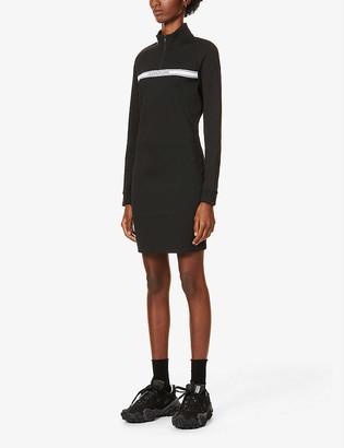 Calvin Klein Logo-print stripe stretch-jersey mini dress