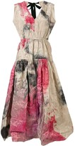 Roksanda Abstract Print Flared Dress
