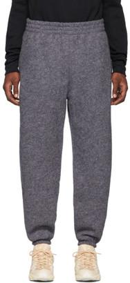 GmbH Grey Wool Logo Lounge Pants