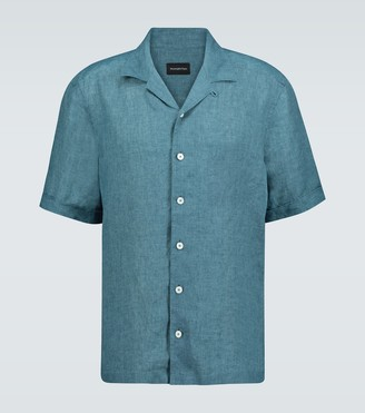 Ermenegildo Zegna Short-sleeved linen shirt