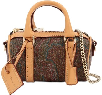 Etro Mini Paisley Print Coated Canvas Bag
