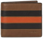 Coach Brown Striped Leather Wallet