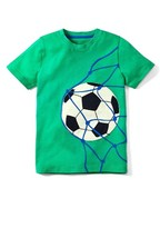 Toddler Boy's Mini Boden Sports Applique T-Shirt
