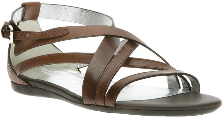 Hogan strappy flat sandal