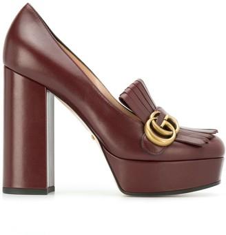 Gucci fringe platform pumps