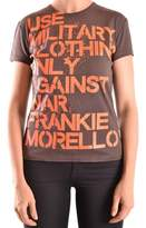 Frankie Morello Women's Brown Cotton T-shirt.