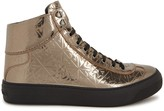 Jimmy Choo Argyle Gunmetal Star-embossed Hi-top Trainers