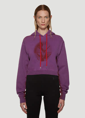 Artica Arbox Kiss Cropped Hooded Sweatshirt in Purple