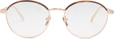 Linda Farrow Rose-gold plated round-frame glasses