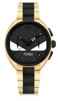 Fendi Momento Bug Goldtone & Black Stainless Steel Bracelet Watch
