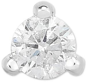 Macy's Diamond Single Stud Earring (1/10 ct. t.w.) in 14k White Gold