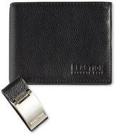 Kenneth Cole Reaction Men's Leather Passcase Wallet & Money Clip