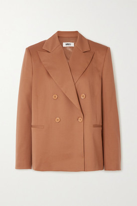 MM6 MAISON MARGIELA Double-breasted Twill Blazer - Beige