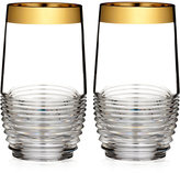 Waterford Mixology Mad Men Edition Circon Highball with Gold Band, Pair